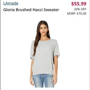 LA made elbow sweater top
